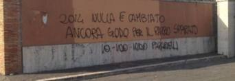 Graffito, vergognoso contro Paparelli